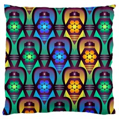 Pattern Background Bright Blue Large Cushion Case (one Side)