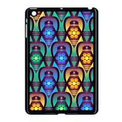 Pattern Background Bright Blue Apple Ipad Mini Case (black) by Sapixe