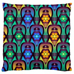 Pattern Background Bright Blue Standard Flano Cushion Case (one Side) by Sapixe