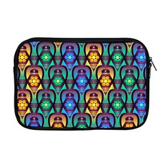 Pattern Background Bright Blue Apple Macbook Pro 17  Zipper Case by Sapixe