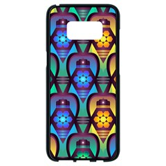 Pattern Background Bright Blue Samsung Galaxy S8 Black Seamless Case by Sapixe