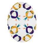 Pattern Circular Birds Ornament (Oval) Front
