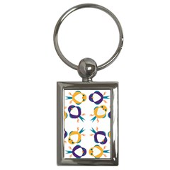 Pattern Circular Birds Key Chains (Rectangle)
