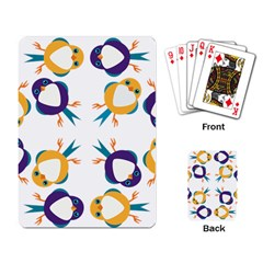 Pattern Circular Birds Playing Card