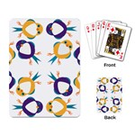 Pattern Circular Birds Playing Card Back