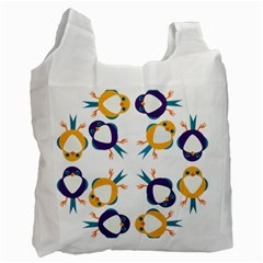 Pattern Circular Birds Recycle Bag (Two Side)