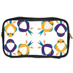 Pattern Circular Birds Toiletries Bags 2 Side by Sapixe