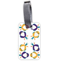 Pattern Circular Birds Luggage Tags (One Side)