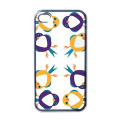Pattern Circular Birds Apple Iphone 4 Case (black) by Sapixe