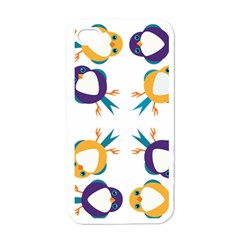 Pattern Circular Birds Apple Iphone 4 Case (white) by Sapixe