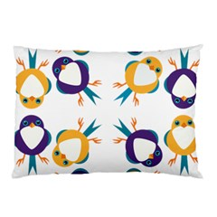 Pattern Circular Birds Pillow Case (Two Sides)