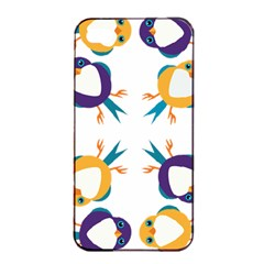 Pattern Circular Birds Apple Iphone 4/4s Seamless Case (black) by Sapixe