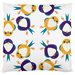 Pattern Circular Birds Large Cushion Case (One Side)