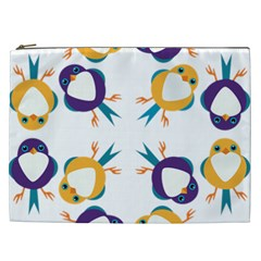 Pattern Circular Birds Cosmetic Bag (xxl)  by Sapixe
