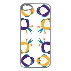Pattern Circular Birds Apple Iphone 5 Case (silver) by Sapixe