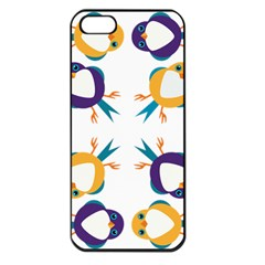 Pattern Circular Birds Apple Iphone 5 Seamless Case (black) by Sapixe