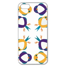 Pattern Circular Birds Apple Seamless Iphone 5 Case (clear) by Sapixe