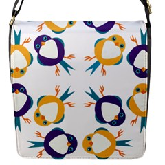 Pattern Circular Birds Flap Messenger Bag (s) by Sapixe