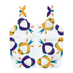 Pattern Circular Birds Full Print Recycle Bags (l)  by Sapixe