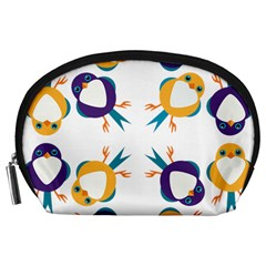 Pattern Circular Birds Accessory Pouches (large)  by Sapixe
