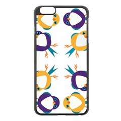 Pattern Circular Birds Apple Iphone 6 Plus/6s Plus Black Enamel Case by Sapixe