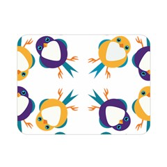 Pattern Circular Birds Double Sided Flano Blanket (Mini)