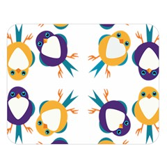 Pattern Circular Birds Double Sided Flano Blanket (Large)