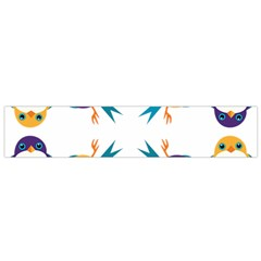 Pattern Circular Birds Small Flano Scarf by Sapixe