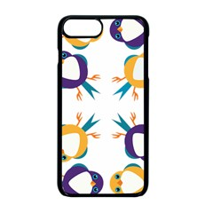Pattern Circular Birds Apple Iphone 8 Plus Seamless Case (black) by Sapixe
