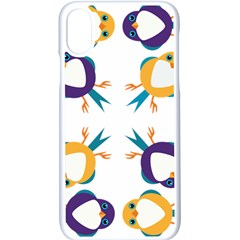 Pattern Circular Birds Apple Iphone X Seamless Case (white) by Sapixe