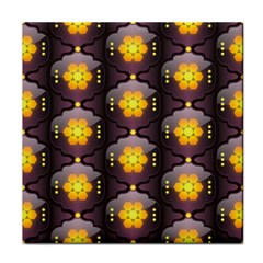 Pattern Background Yellow Bright Tile Coasters