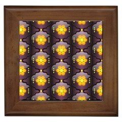 Pattern Background Yellow Bright Framed Tiles