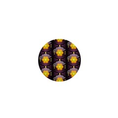 Pattern Background Yellow Bright 1  Mini Buttons