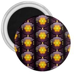 Pattern Background Yellow Bright 3  Magnets