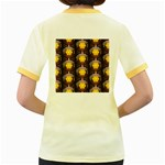 Pattern Background Yellow Bright Women s Fitted Ringer T-Shirts Back