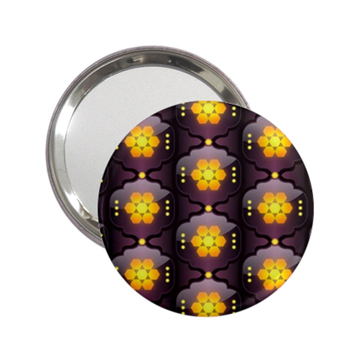 Pattern Background Yellow Bright 2.25  Handbag Mirrors