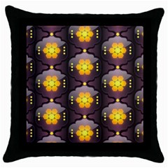 Pattern Background Yellow Bright Throw Pillow Case (Black)