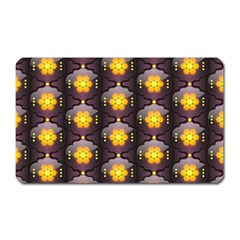 Pattern Background Yellow Bright Magnet (Rectangular)