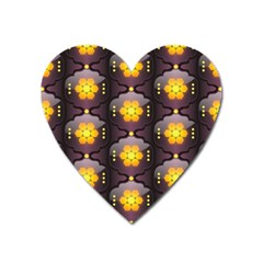Pattern Background Yellow Bright Heart Magnet