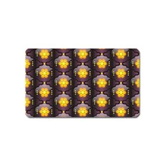 Pattern Background Yellow Bright Magnet (Name Card)