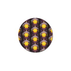 Pattern Background Yellow Bright Golf Ball Marker (4 pack)