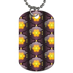 Pattern Background Yellow Bright Dog Tag (Two Sides)