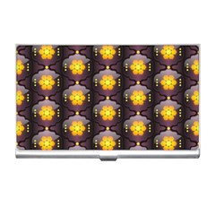 Pattern Background Yellow Bright Business Card Holders