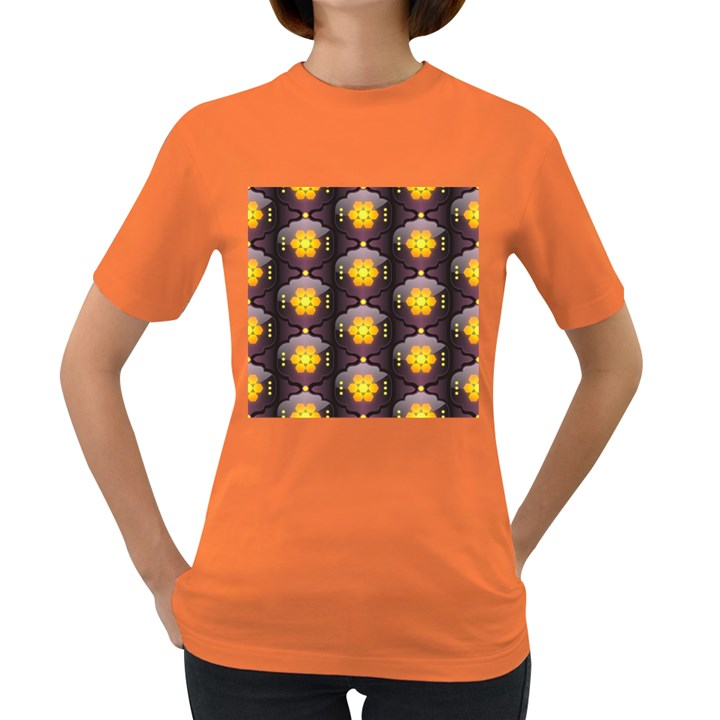Pattern Background Yellow Bright Women s Dark T-Shirt