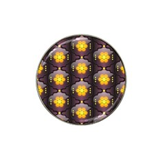 Pattern Background Yellow Bright Hat Clip Ball Marker (4 pack)