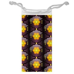Pattern Background Yellow Bright Jewelry Bag