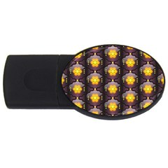 Pattern Background Yellow Bright USB Flash Drive Oval (4 GB)