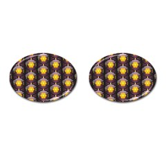 Pattern Background Yellow Bright Cufflinks (Oval)