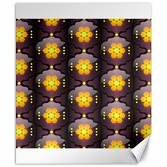 Pattern Background Yellow Bright Canvas 8  x 10