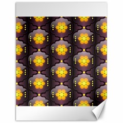 Pattern Background Yellow Bright Canvas 12  x 16